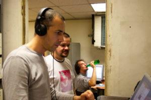 Avec Andrea Cera et Christian Delécluse en production