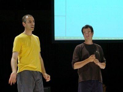 Armando Menicacci et Christian Delécluse. Version d'atelier au Centre National de la Danse (Paris)