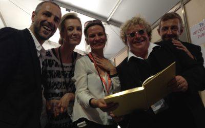 avec Delphine Caron, Yann