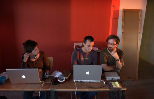 Julie Nioche, Rachid Ouramdane, et Emanuele Quinz